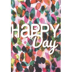 Carte citation - Happy Day - Artiste Amy Sia AS02 - 12x17cm