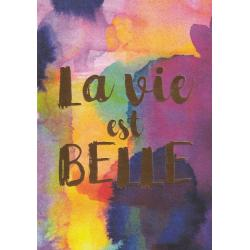 Carte citation - La vie est belle - Artiste Amy Sia AS03 - 12x17cm