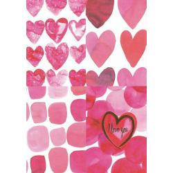 Carte citation - I love you... - Artiste Amy Sia AS08 - 12x17cm