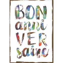 Carte citation - Bon anniversaire... - Artiste Amy Sia AS09 - 12x17cm