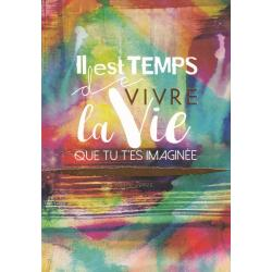Carte citation - Il est temps de vivre la vie - Artiste Amy Sia AS14 - 12x17cm
