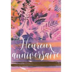 Carte citation - Heureux anniversaire... - Artiste Amy Sia AS19 - 12x17cm