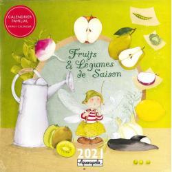 Calendrier familial 2021 - Fruits et légumes - 30x30 cm