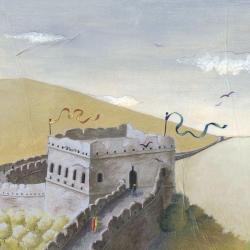 Carte Marie-Anne Foucart - La Muraille de Chine (Haut) - 14x14 cm