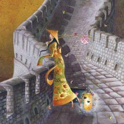 Carte Marie-Anne Foucart - La Muraille de Chine (Bas) - 14x14 cm