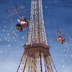 Carte Marie-Anne Foucart - La Tour Eiffel (Milieu) - 14x14 cm