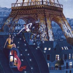 Carte Marie-Anne Foucart - La Tour Eiffel (Bas) - 14x14 cm