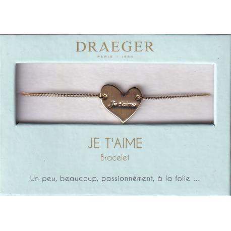 Bracelet motif COEUR JTM - 14 cm environ réglable
