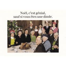 Carte humour Noël de Cath Tate - Noël, c'est génial, sauf ... - 10.5x15 cm