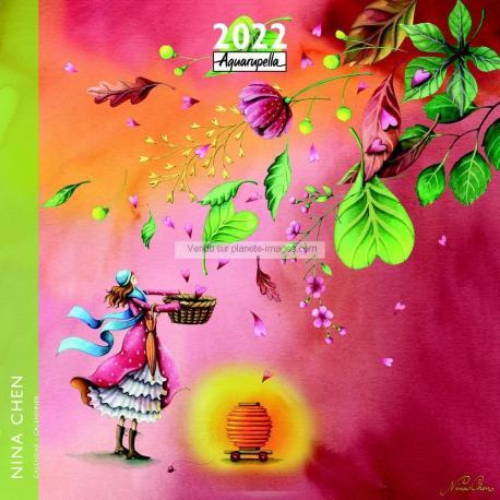 Calendrier 2022 Nina Chen - La cueillette - 30x30 cm - Expédition le jour même.