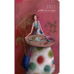 Agenda 2022 Gaëlle Boissonnard - Peindre des coeurs - 10.2x16.7 cm (Pt Mod) - Expédition le jour même.