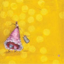Carte Gaëlle Boissonnard - Le panier aux oiseaux - 14x14 cm