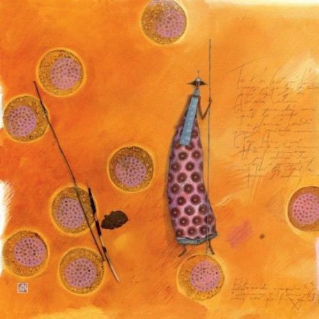 Carte Gaëlle Boissonnard - L'africaine - 14x14 cm