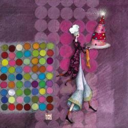 Carte Gaëlle Boissonnard - Le gâteau scintillant - 14x14 cm