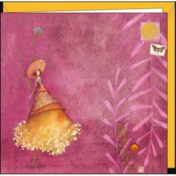Carte Gaëlle Boissonnard - La femme au chapeau à pois - 16x16 cm