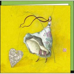Carte Gaëlle Boissonnard - La pêche aux coeurs - 16x16 cm