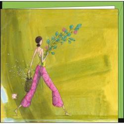 Carte Gaëlle Boissonnard - Le bouquet champêtre - 16x16 cm
