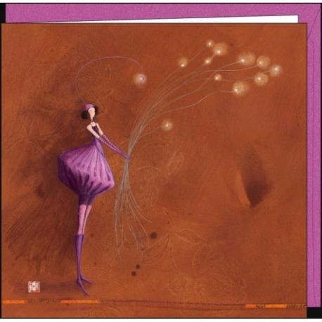 """Carte Gaëlle Boissonnard """"Le bouquet de lumières"""" 16x16 cm"""