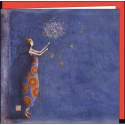 Carte Gaëlle Boissonnard - Le bouquet de violettes - 16x16 cm