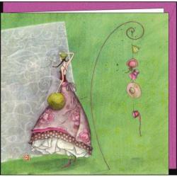 """Carte Gaëlle Boissonnard """"Les chapeaux"""" 16x16 cm"""
