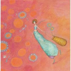 Carte Gaëlle Boissonnard - Les fleurs bleues - 16x16 cm