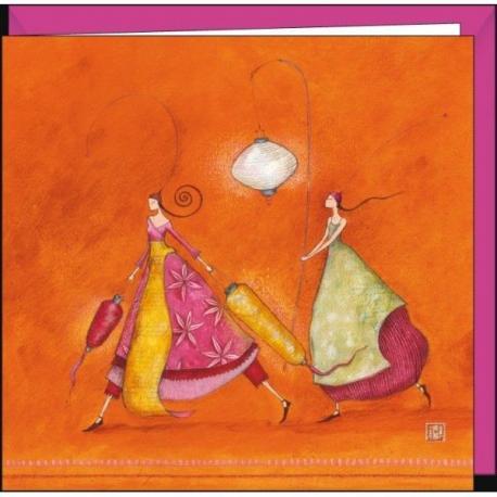 """Carte Gaëlle Boissonnard """"Les porteuses de lumière"""" 16x16 cm"""