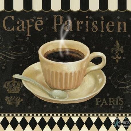 Carte Daphné Brissonnet - Café Parisien I - 14x14 cm