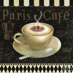 Carte Daphné Brissonnet - Café Parisien III - 14x14 cm