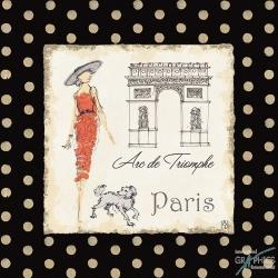 Carte Avery Tillmon - Ladies in Paris I - 14x14 cm
