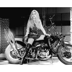 Affiche Brigitte Bardot - Harley Davidson - Affiche 24x30 cm