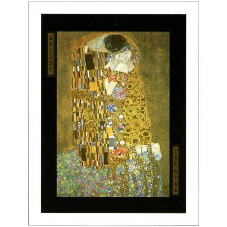 "Affiche Gustav Klimt ""The Kiss"" 60x80 cm"