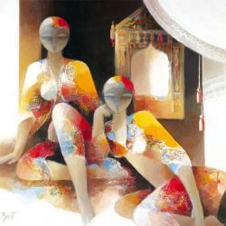 Carte François Bennet - Femmes Assises - 14x14 cm