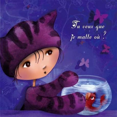 Carte Laure Phelipon - Je Matte Ou - 14x14 cm