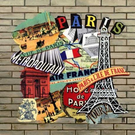 Carte Christine Le Bris Morvan - Paris - 14x14 cm