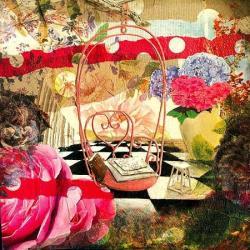 Carte Julie Grugeaux - La balance d'églantine - 14x14 cm