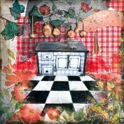 Carte Julie Grugeaux - La cuisine d'eugénie - 14x14 cm