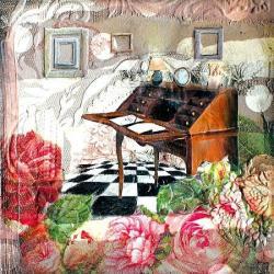 Carte Julie Grugeaux - La lettre d'hortense - 14x14 cm