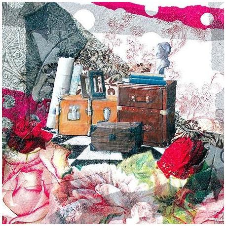 Carte Julie Grugeaux - Le grenier d'oscar - 14x14 cm