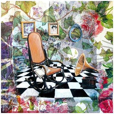 Carte Julie Grugeaux - Le rocking chair d'émilie - 14x14 cm