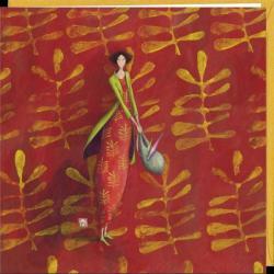 Carte Gaëlle Boissonnard - Caméléon - 16x16 cm