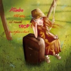 Carte Amélie Thiebaud - Attendre 107 Ans - 14x14 cm