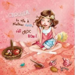 Carte Amélie Thiebaud - Croquer la vie à pleins dents - 14x14 cm