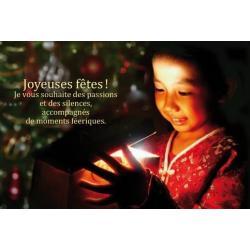 """Carte de Voeux citation """"Joyeuses fêtes!..."""" - 12x17 cm"""