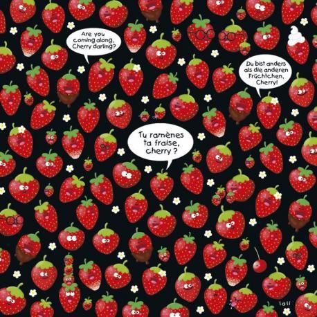 """Calendrier 2014 Lali """"Tu ramènes ta fraise cherry ?"""" 16x16 cm"""
