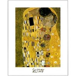 Affiche Gustav Klimt - The Kiss - 24x30 cm