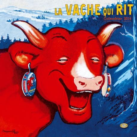 """Calendrier Clouet 2014 """"La vache qui rit"""" Format 30x30 cm"""