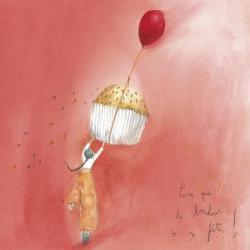 """Carte Anne-Sophie Rutsaert """"Parce que le bonheur ça se fête..."""" 14x14 cm"""