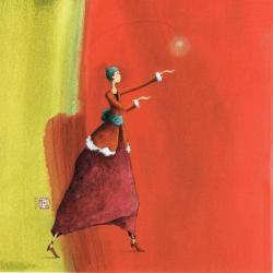 Carte Gaëlle Boissonnard - Douce lumière - 14x14 cm