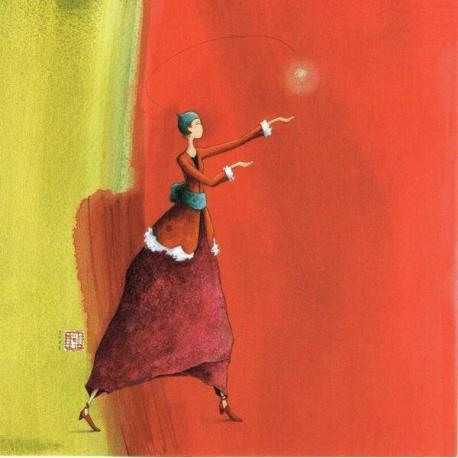 Gaëlle Boissonnard Carte - Douce lumière - 14x14 cm