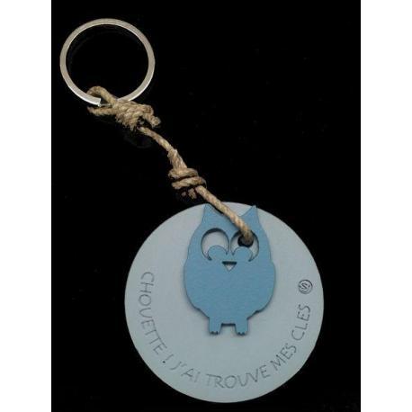 """Porte clés anneau Sophie Janière """"J'ai trouvé mes clés"""""""